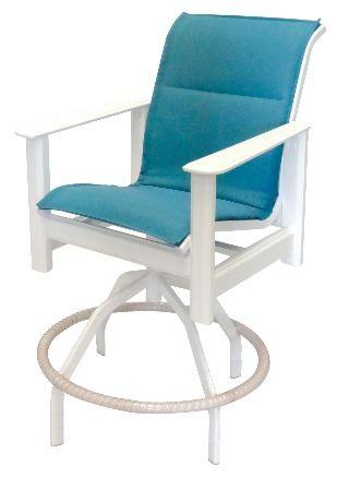 Hampton Sling Marine Grade Polymer Swivel Bar Chair