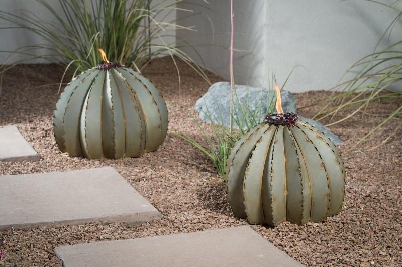 Outdoor Metal Golden Barrel Cactus