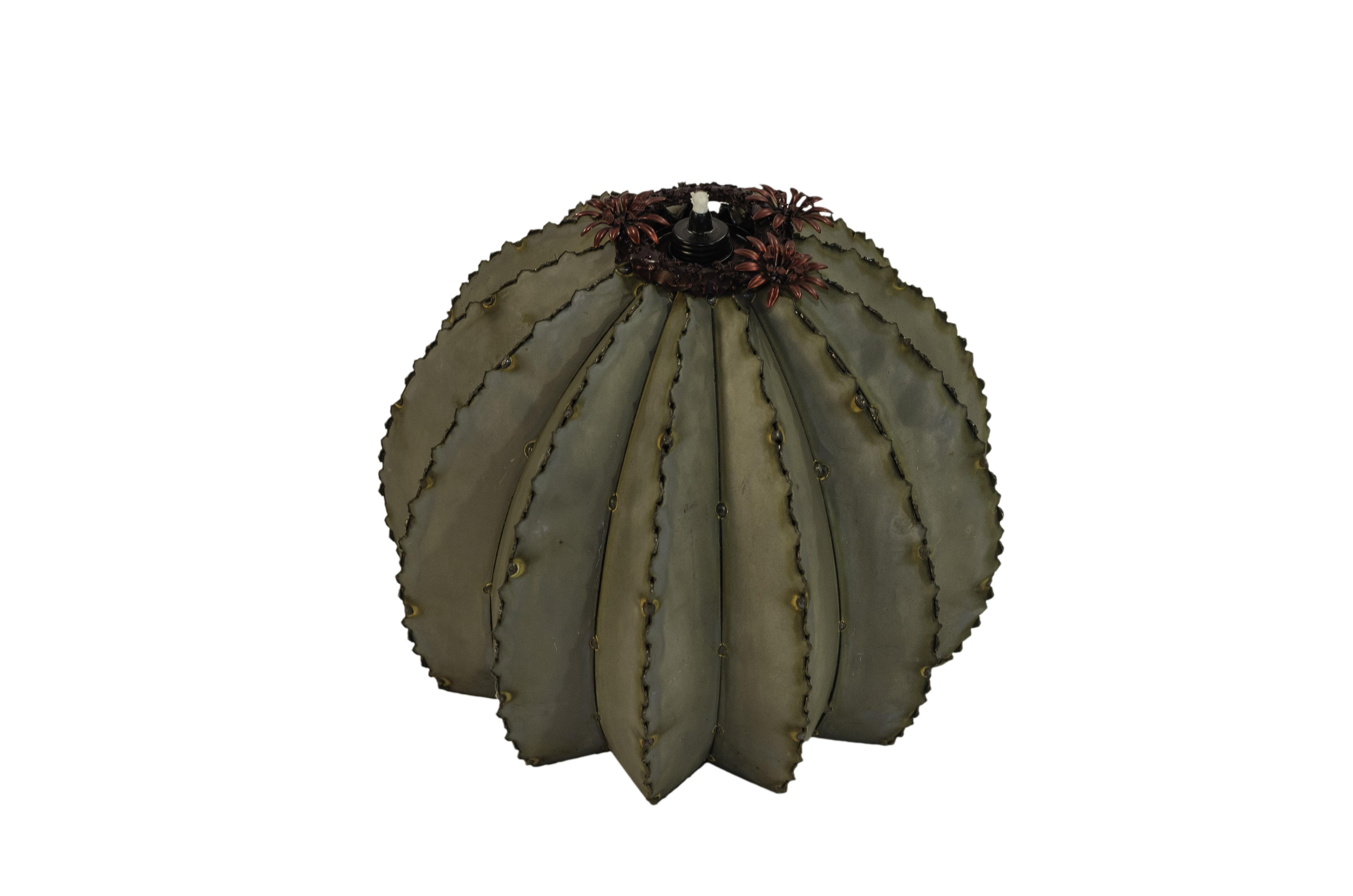 Outdoor Metal Golden Barrel Cactus - Small
