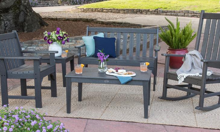 POLYWOOD® Vineyard Garden Arm Chair - GNB24GY