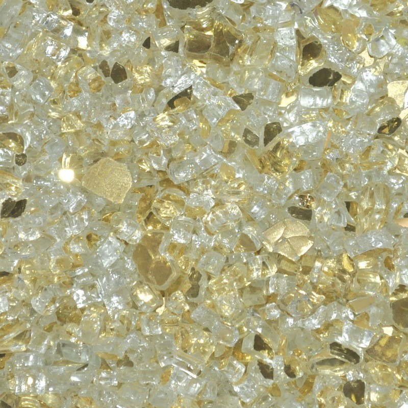 Gold Reflective Fire Glass