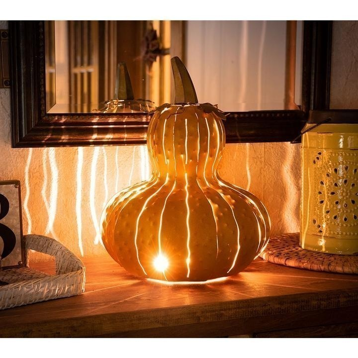 Indoor/Outdoor Metal Gourd Luminary