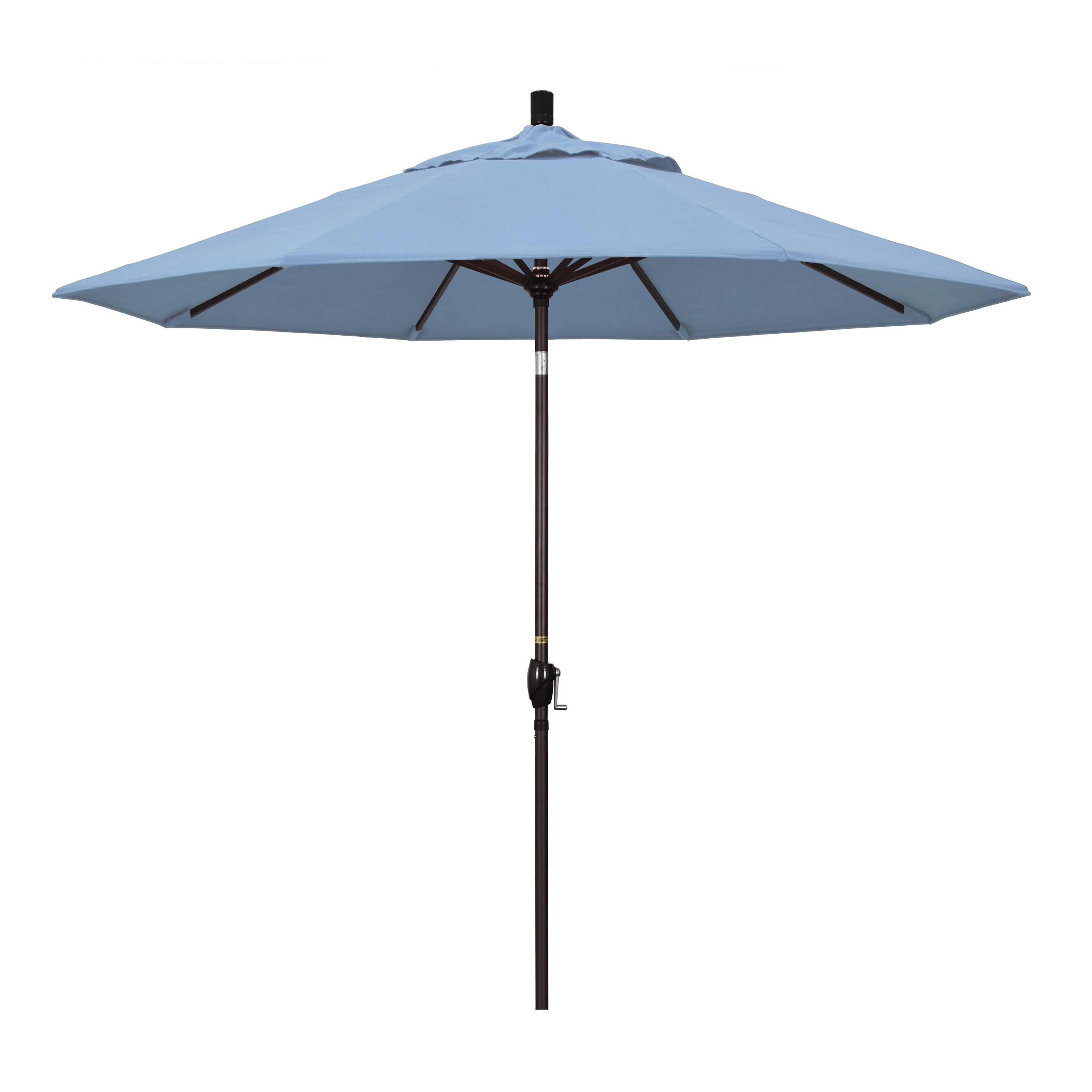 9' Market Style Outdoor Umbrella with Wind Vent Canvas Air Blue