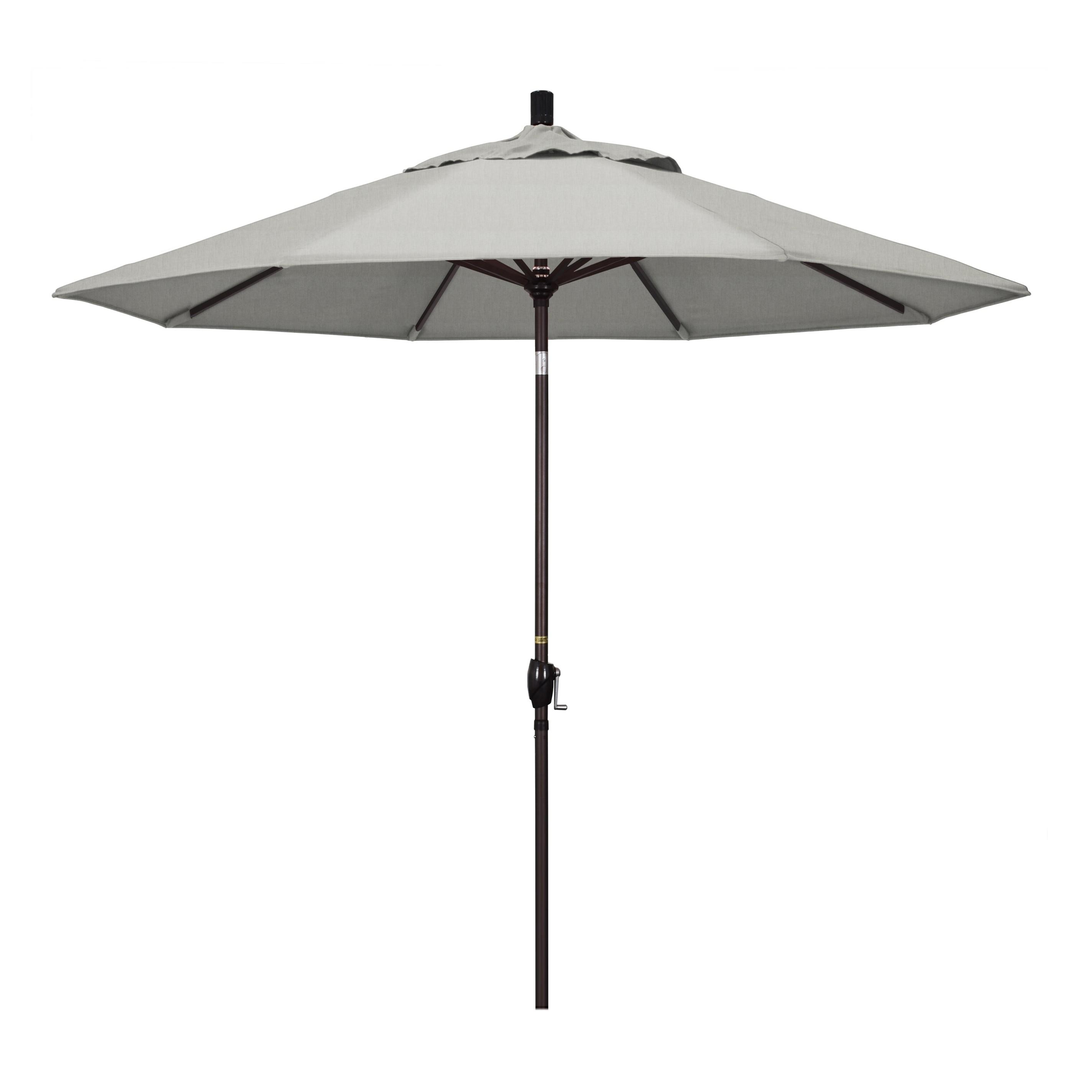 9' Market Style Outdoor Umbrella with Wind Vent Canvas Granite