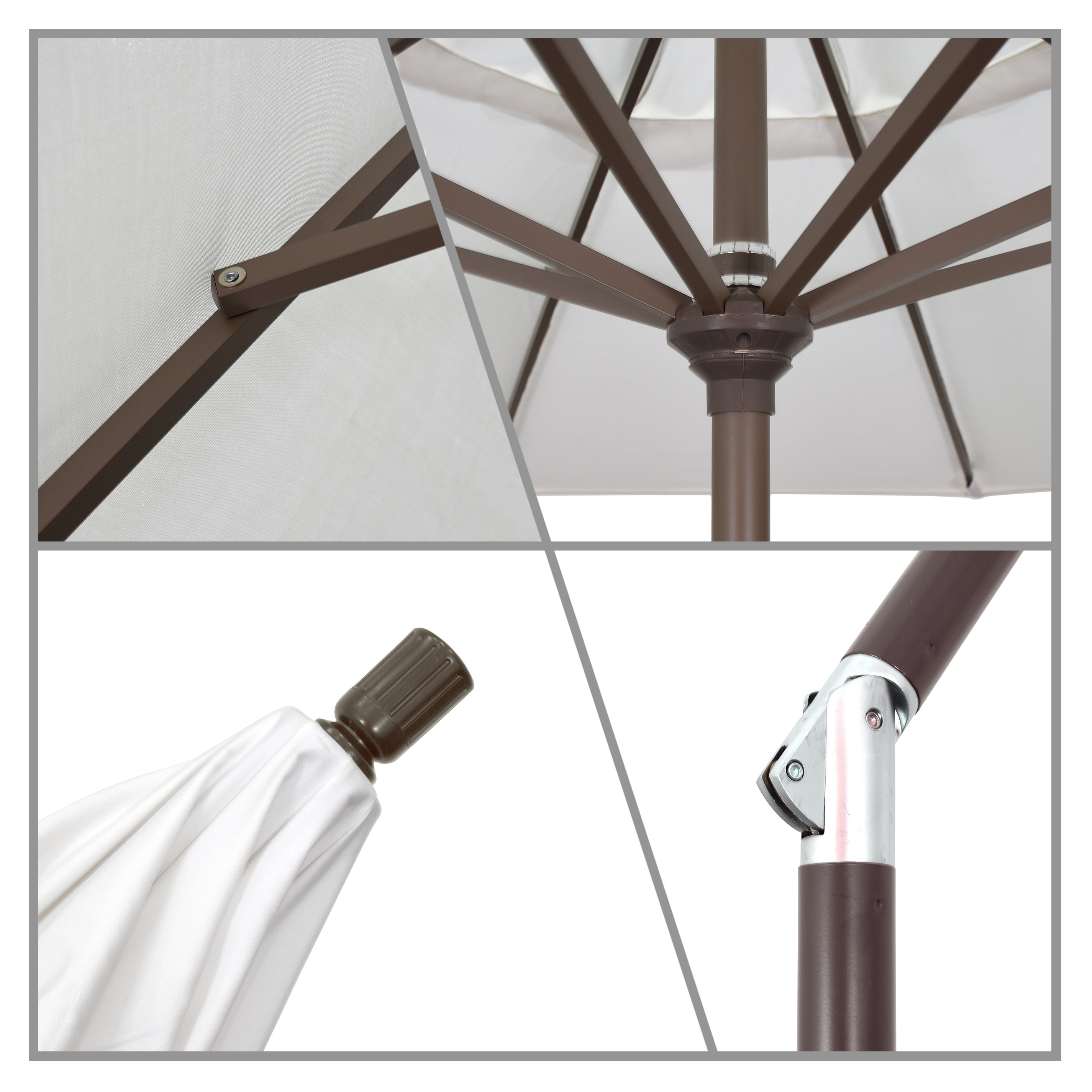 9' Market Style Outdoor Umbrella with Wind Vent Canvas Parrot
