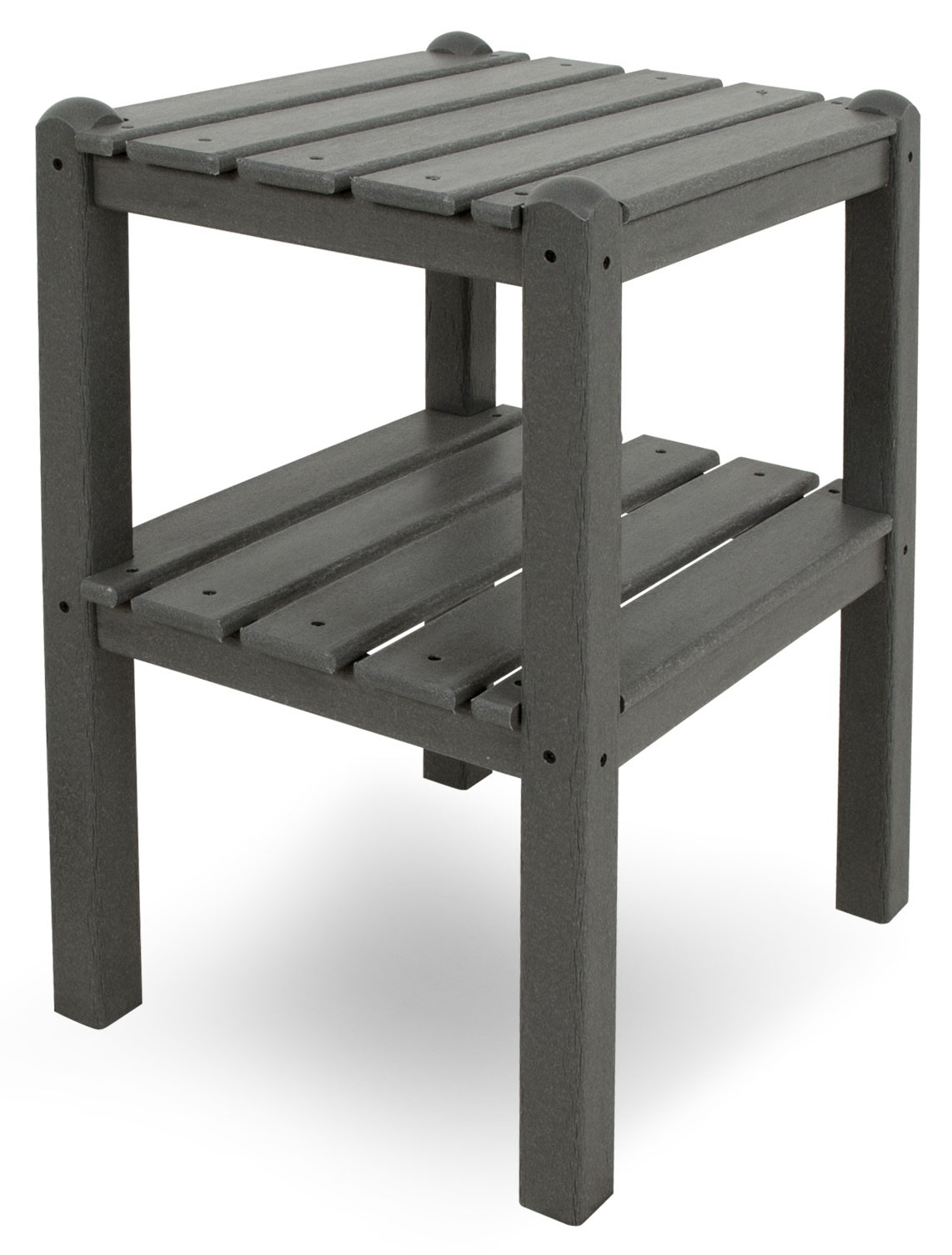 2-Shelf End Table (Slate Grey)