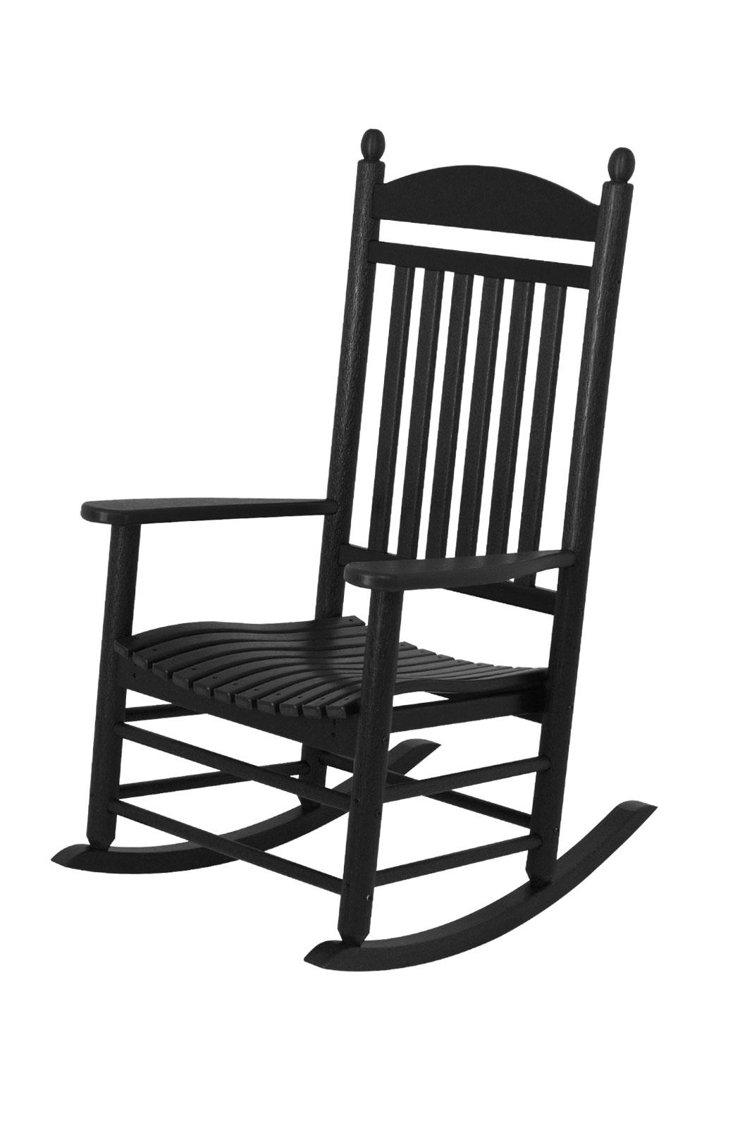 jefferson recycled plastic rocker chair black