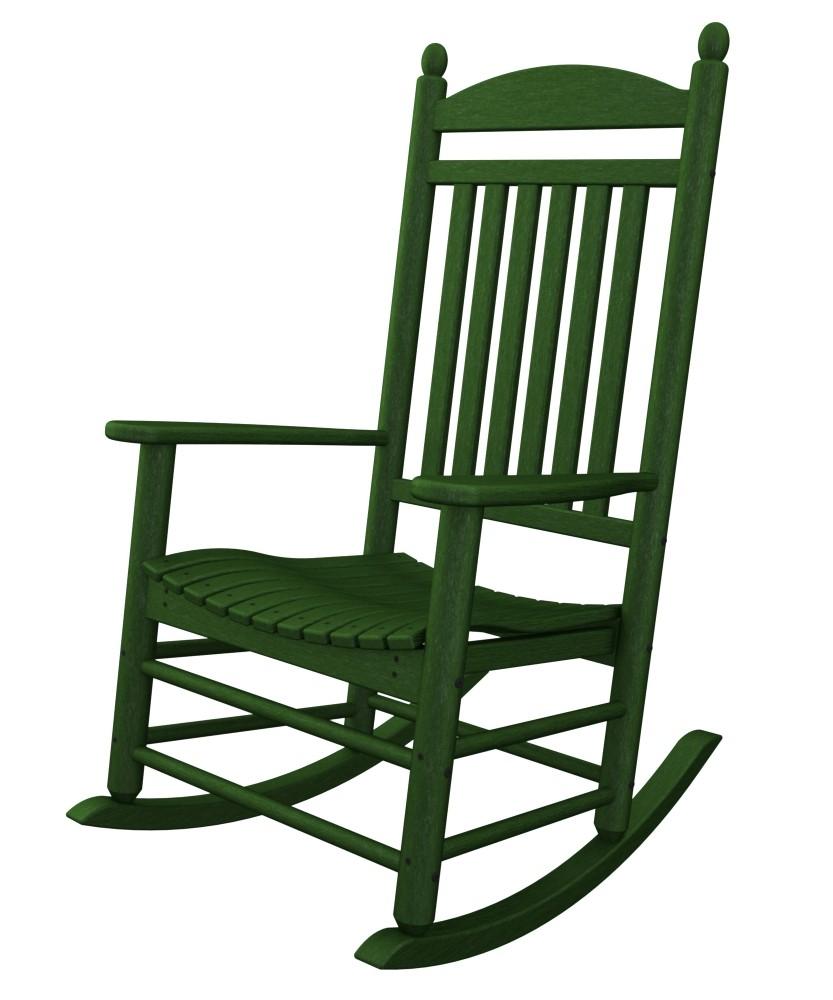 jefferson recycled plastic rocker chair  green
