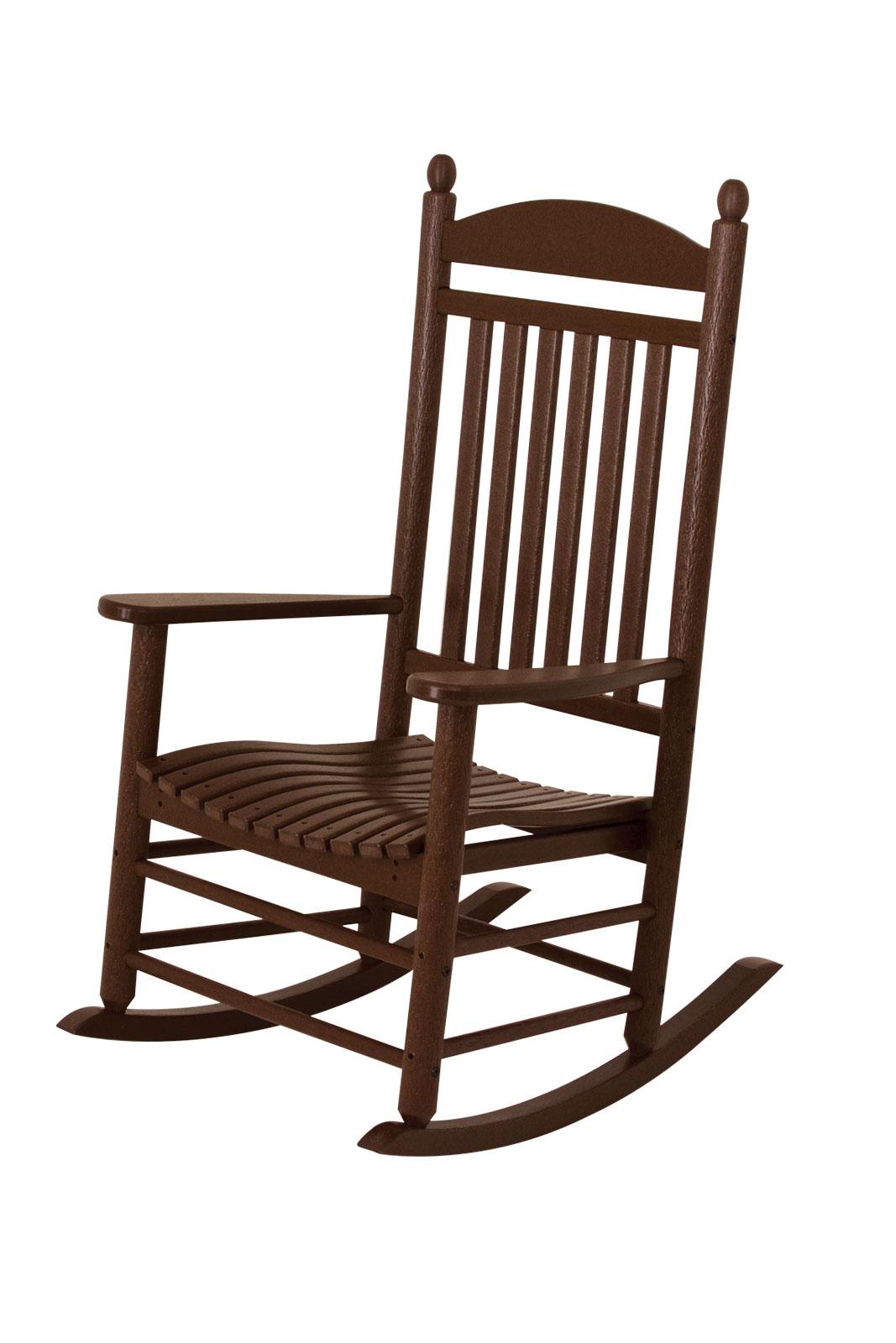 jefferson recycled plastic rocker chair teak