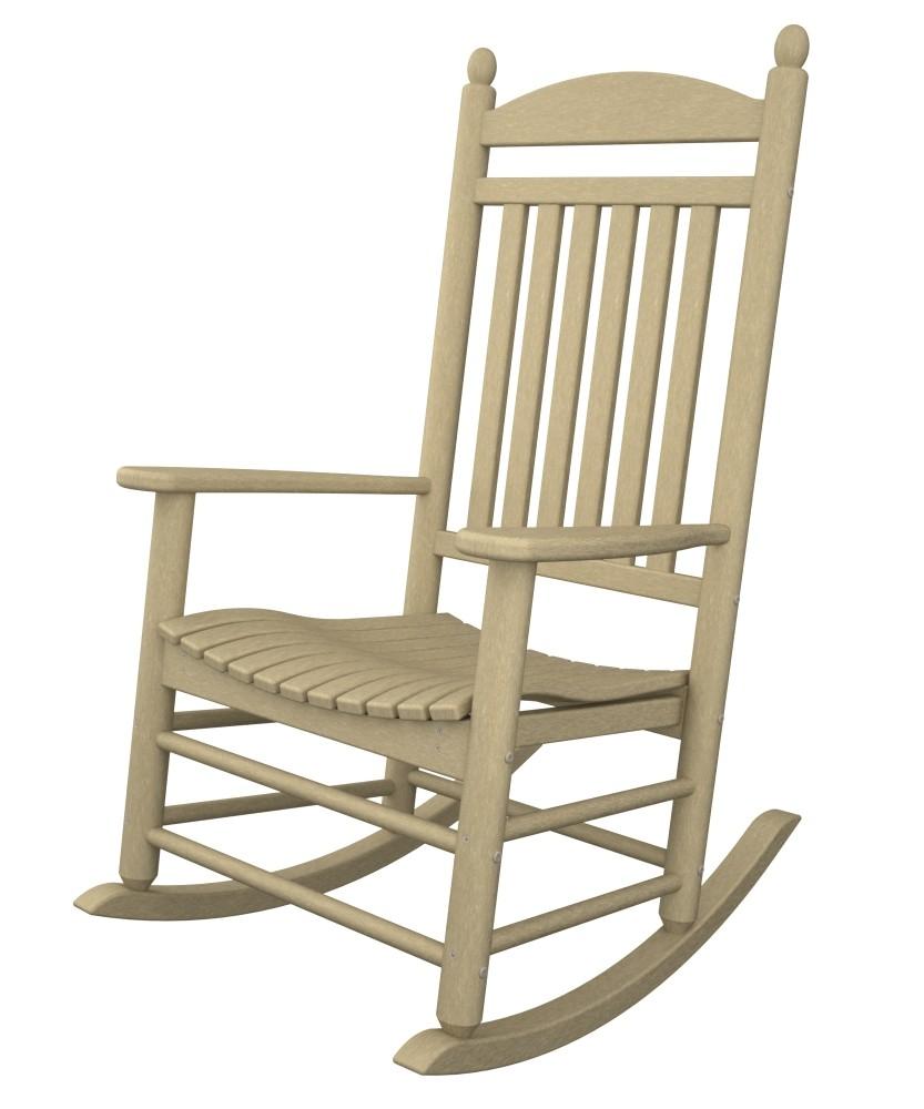 jefferson recycled plastic rocker chair  sand