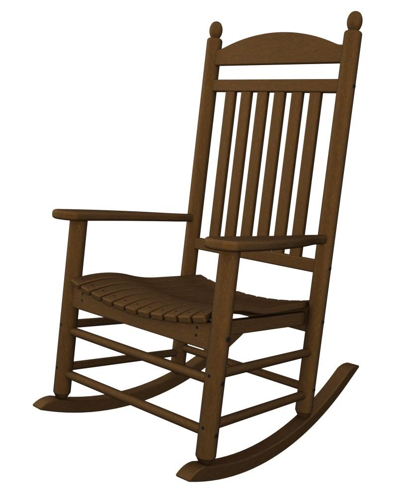 jefferson recycled plastic rocker chair mahogany