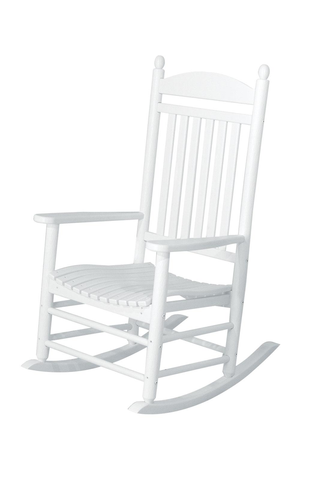 jefferson recycled plastic rocker chair  white