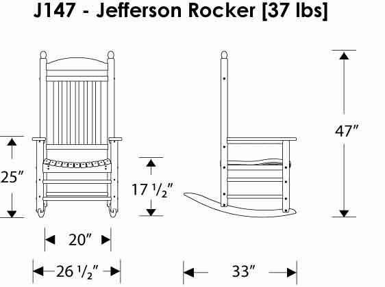 Jefferson Rocker Dimensions