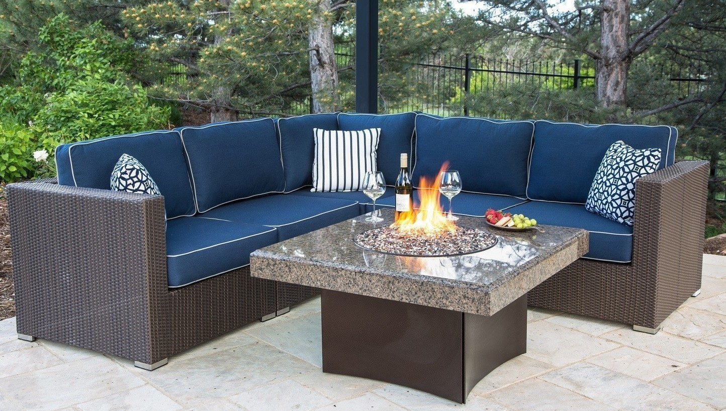 granite fire pit table propane firepit table square gas fire pit