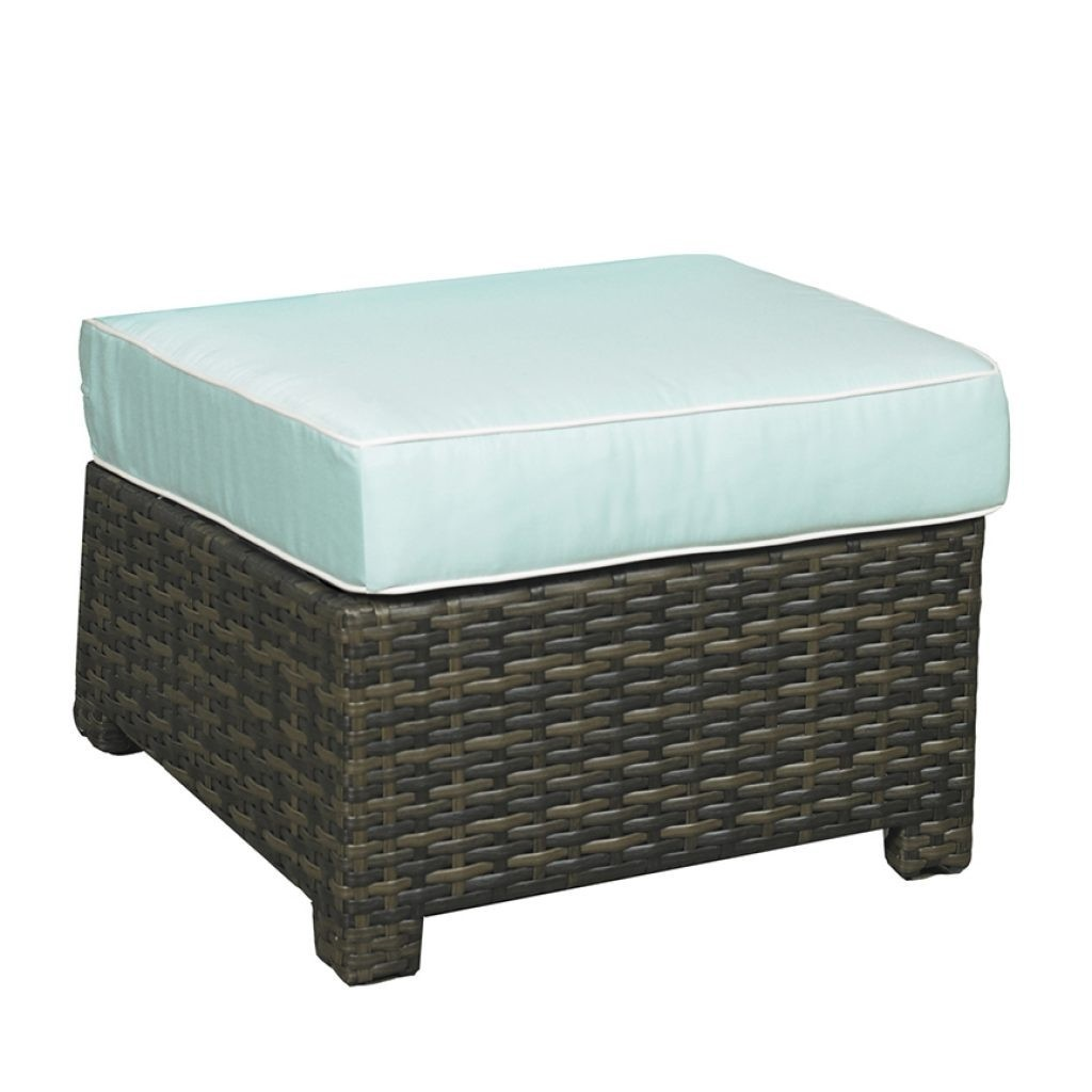Lakeside Wicker Square Ottoman
