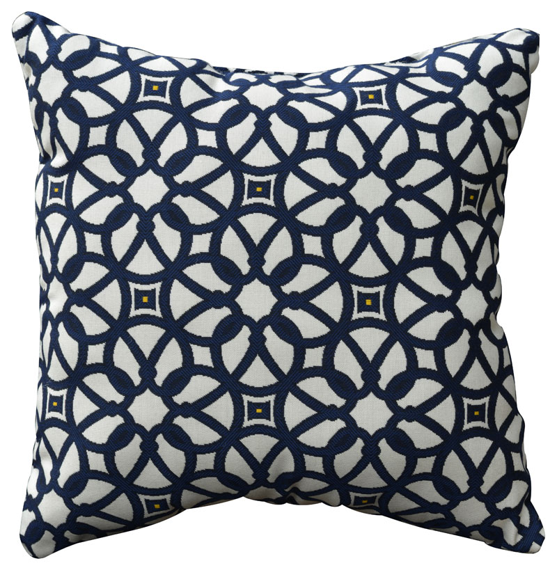 Luxe Indigo Throw Pillow