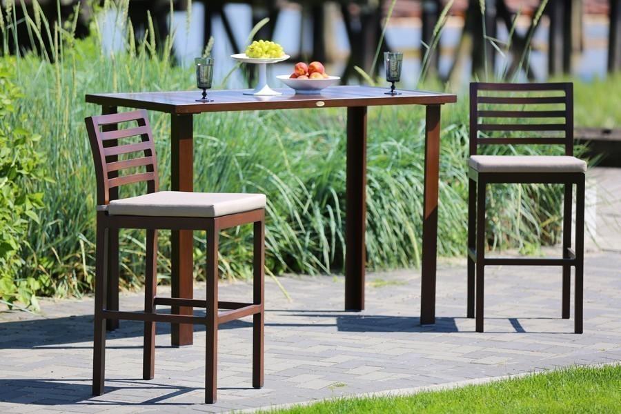 Ratana Limo Hit Top Bar Table shown with 2 chairs