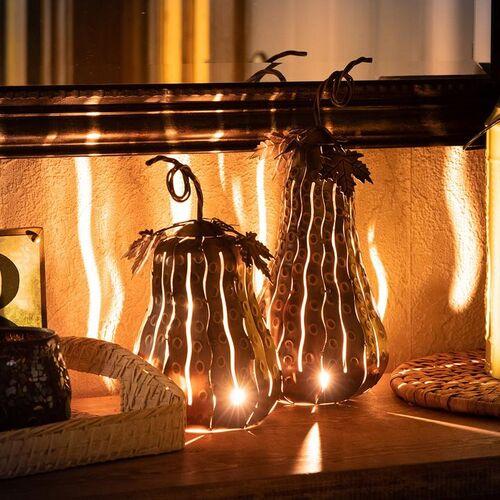 Indoor/Outdoor Copper Mini Gourd Luminary