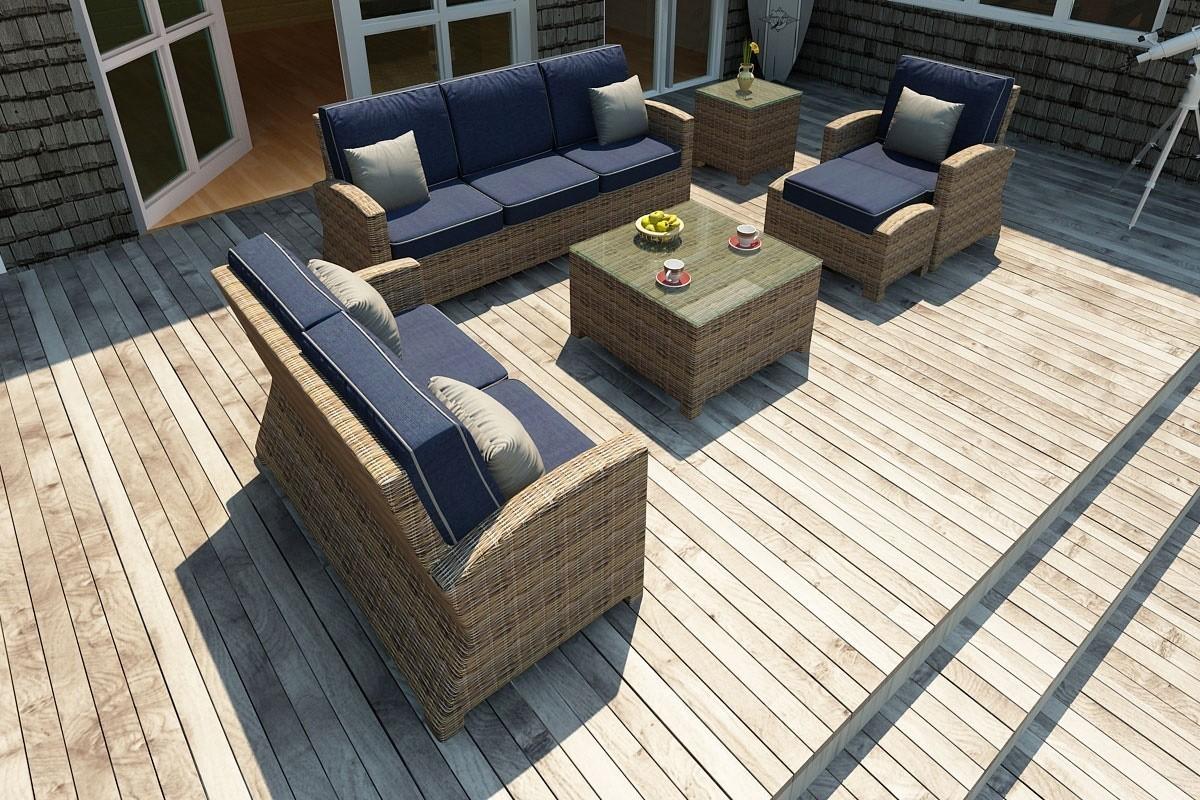 Bainbridge 3 Seater Sofa Lifestyle (Spectrum Indigo w/ Spectrum Dove Welt)