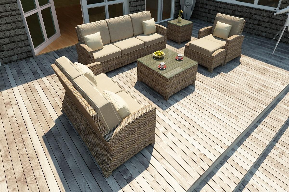 Bainbridge 3 Seater Sofa Lifestyle (Spectrum Mushroom with Spectrum Sand Welt)