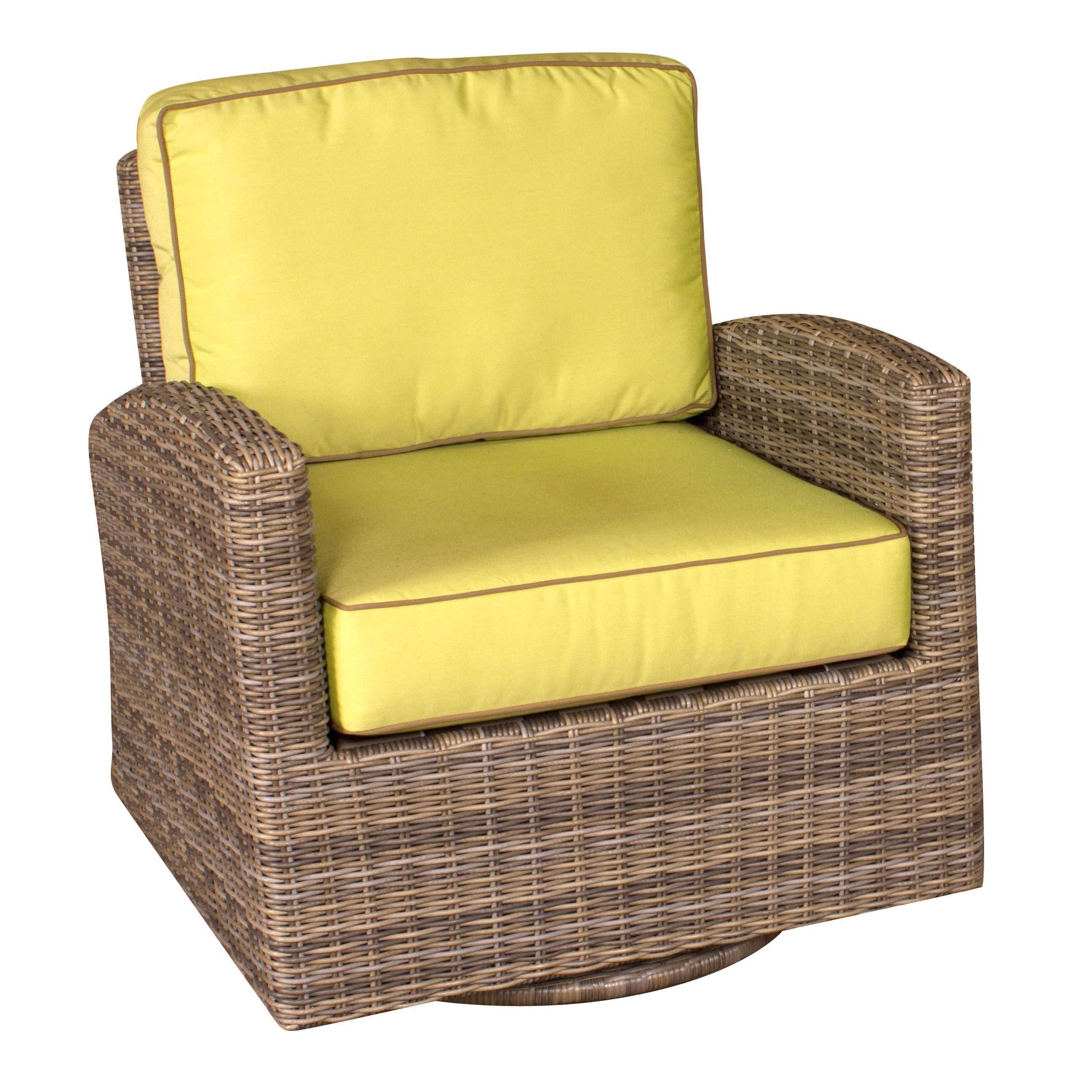 Bainbridge Wicker Swivel Glider Club Chair