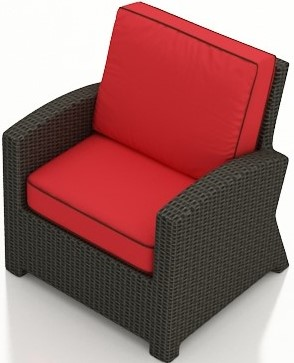 Cabo Club Chair - Flagship Ruby with Canvas Bay Brown Welt