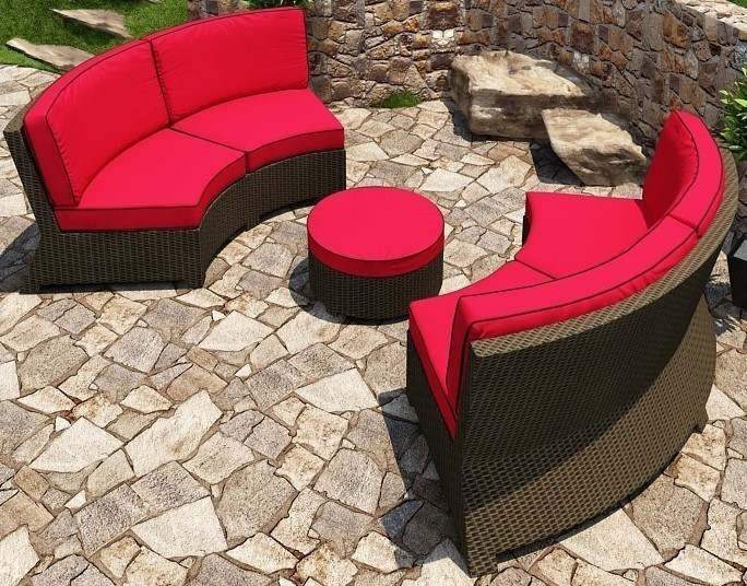 Cabo Curved Sofa Loveseat Lifestyle