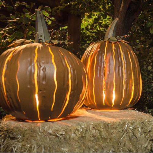 Indoor/Outdoor Orange Pumpkin Luminary - Squatty & Tall