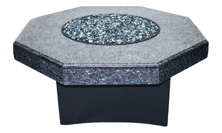 Oriflamme Blue Pearl Octagon Fire Table