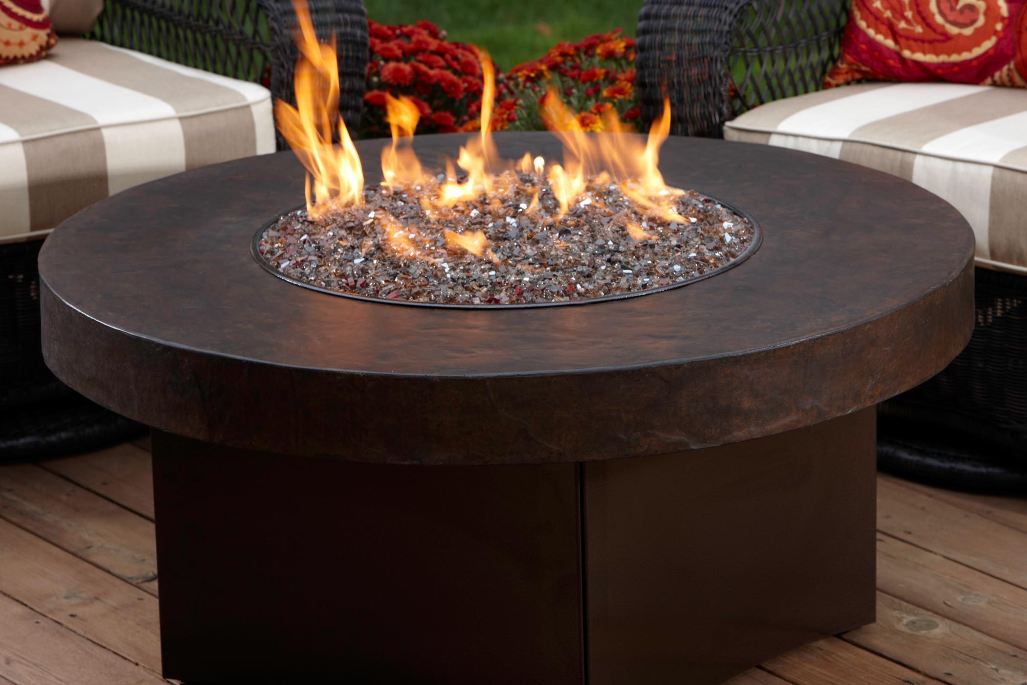 Outdoor Fireplace Tables.  Gas Table Fire Pit Savanna Stone