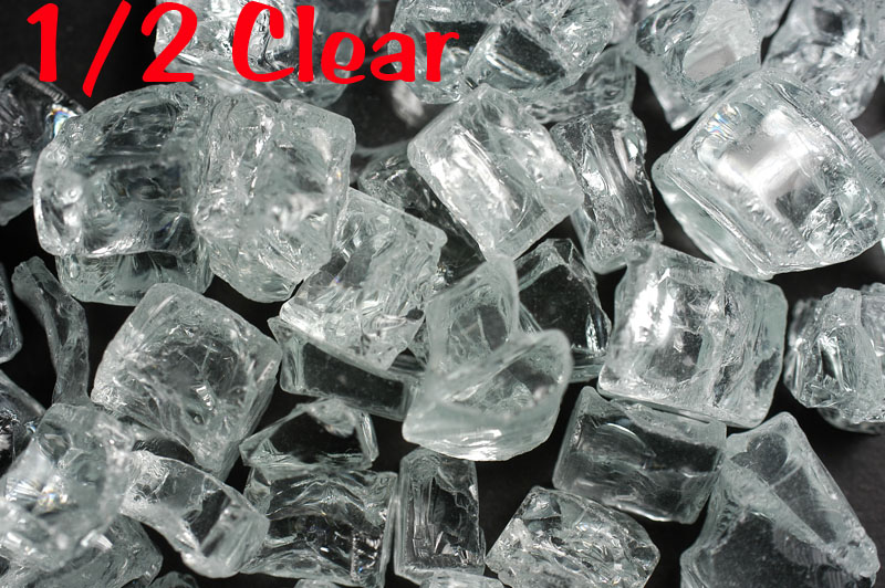 """1/2"""" Clear Fire Glass"""
