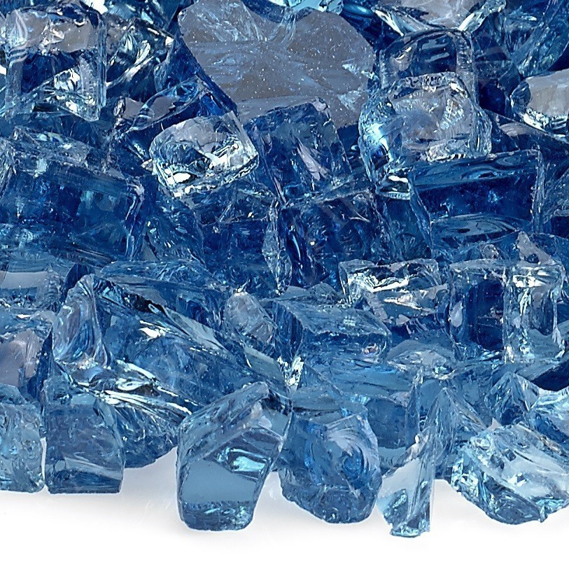 Fire Pit Fireplace Glass - Half Inch Pacific Blue