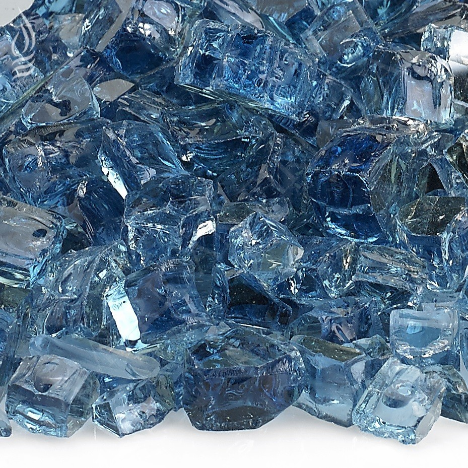 pacific blue fire glass 1/2""