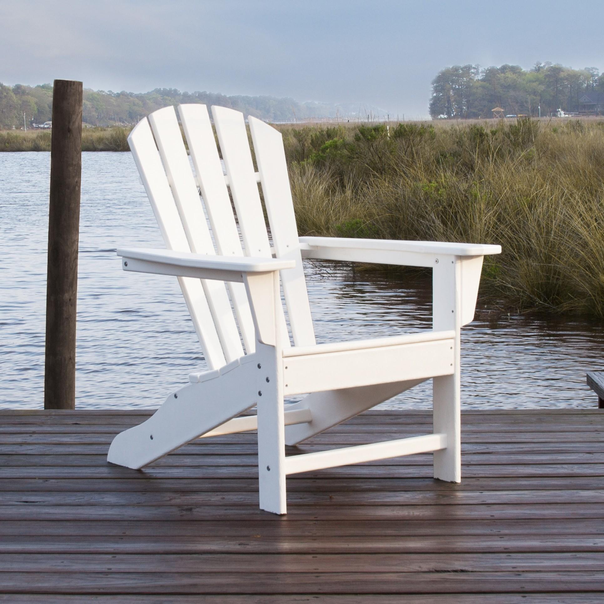 White Adirondack Chair - Deck