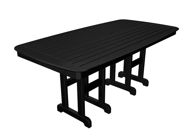 "Polywood Nautical 37"" x 72"" Dining Table - Black"