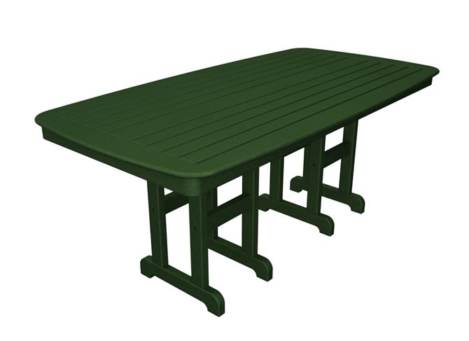 "Polywood Nautical 37"" x 72"" Dining Table - Green"