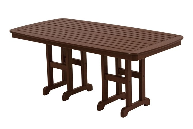 "Polywood Nautical 37"" x 72"" Dining Table - Mahogany"