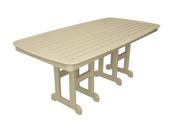 "Polywood Nautical 37"" x 72"" Dining Table - Sand"
