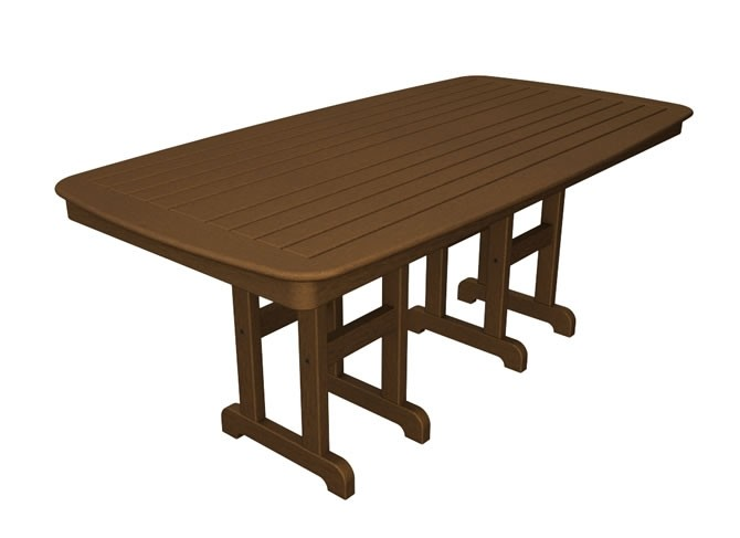 "Polywood Nautical 37"" x 72"" Dining Table - Teak"