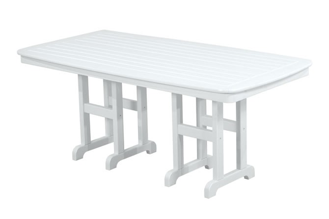 "Polywood Nautical 37"" x 72"" Dining Table - White"