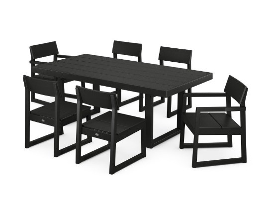 Edge 7 pc Dining Set - Black