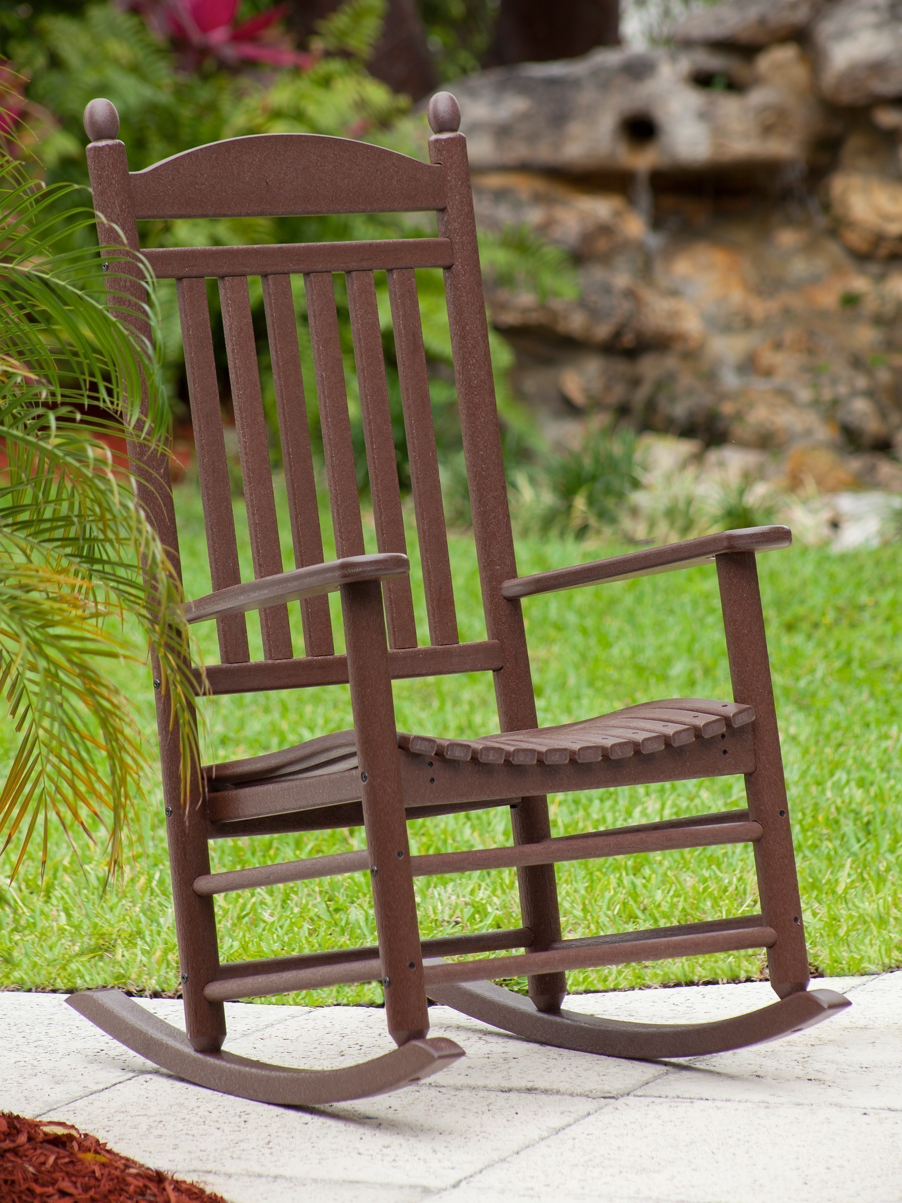 jefferson recycled plastic rocker chair  lifestyle