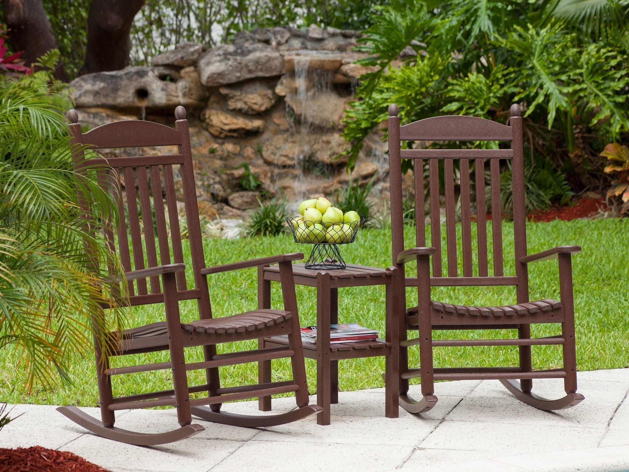 jefferson recycled plastic rocker chair  double side by side rockers
