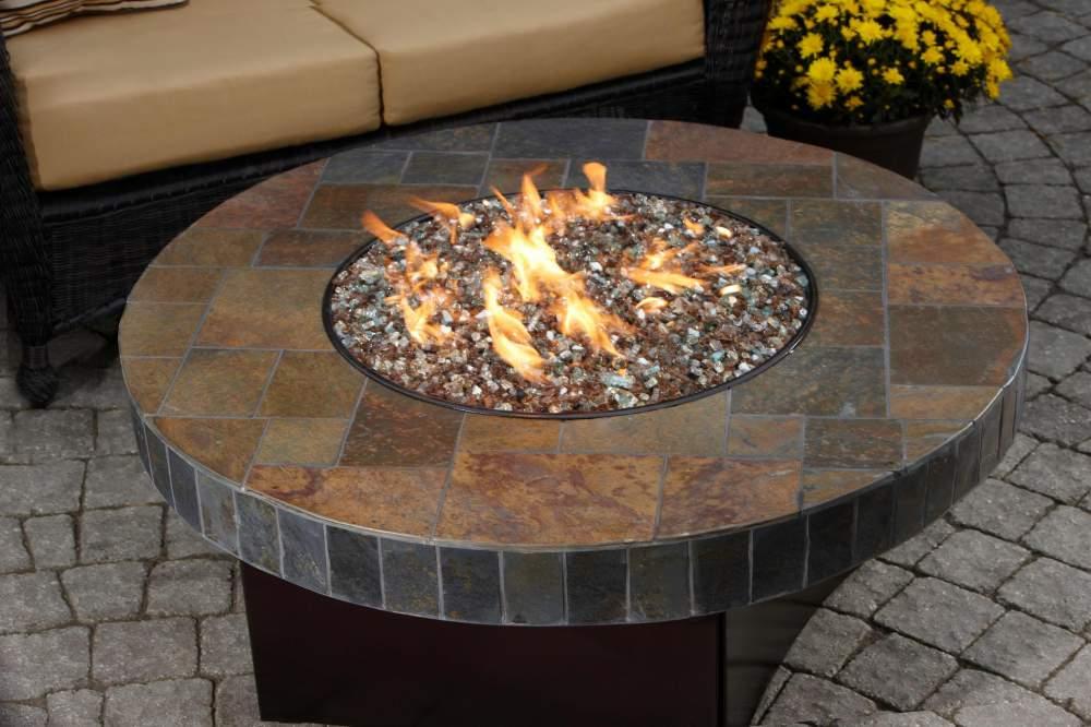 Santa Fe Mosaic Fire Table Gas Fire Pits By All Backyard Fun