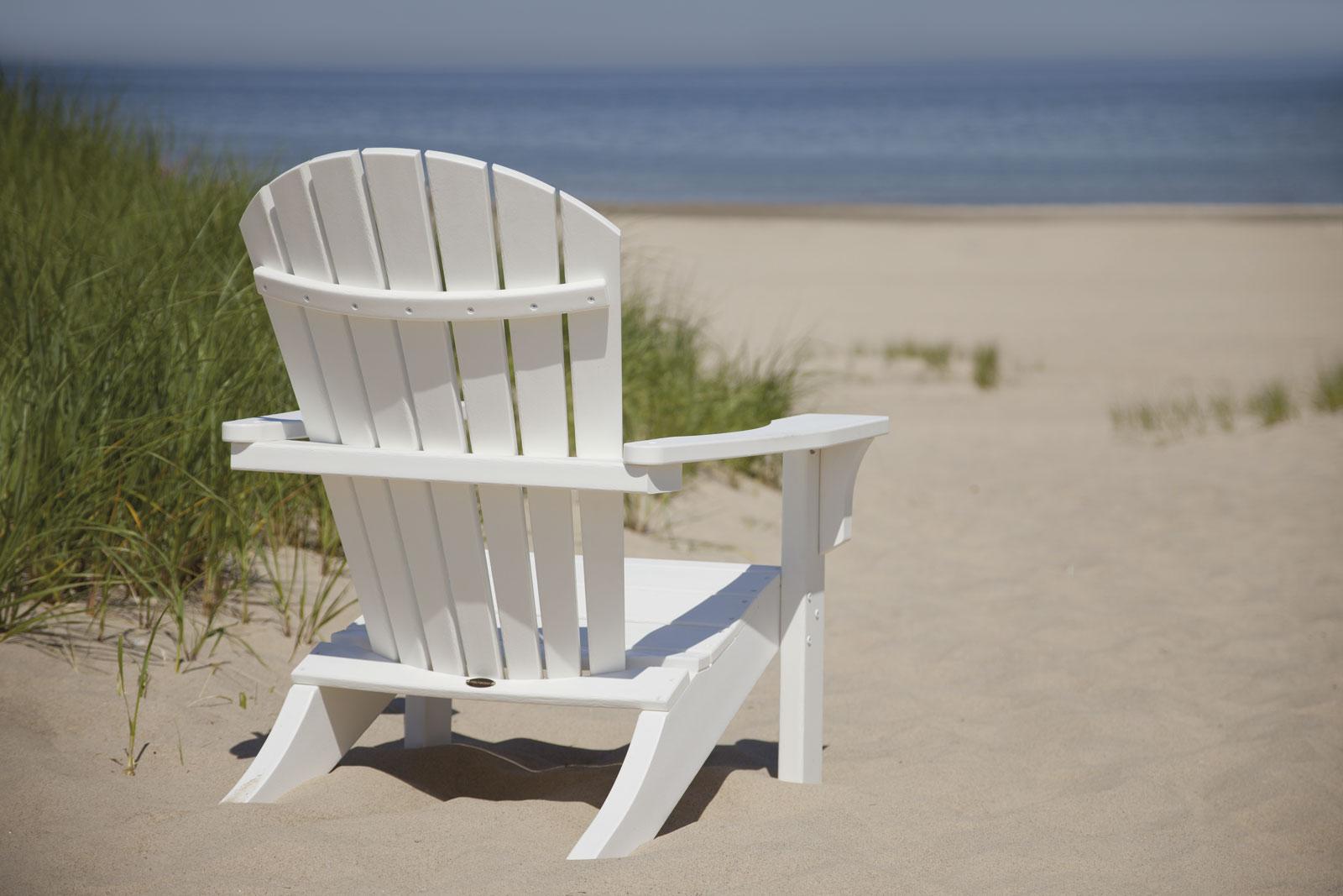 Polywood Seashell Recycled Plastic Adirondack Chair
