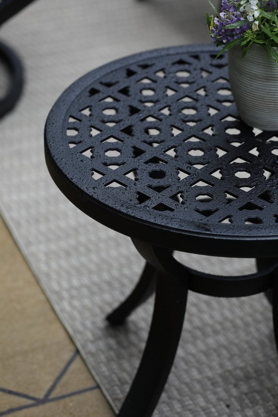 Close up of end table