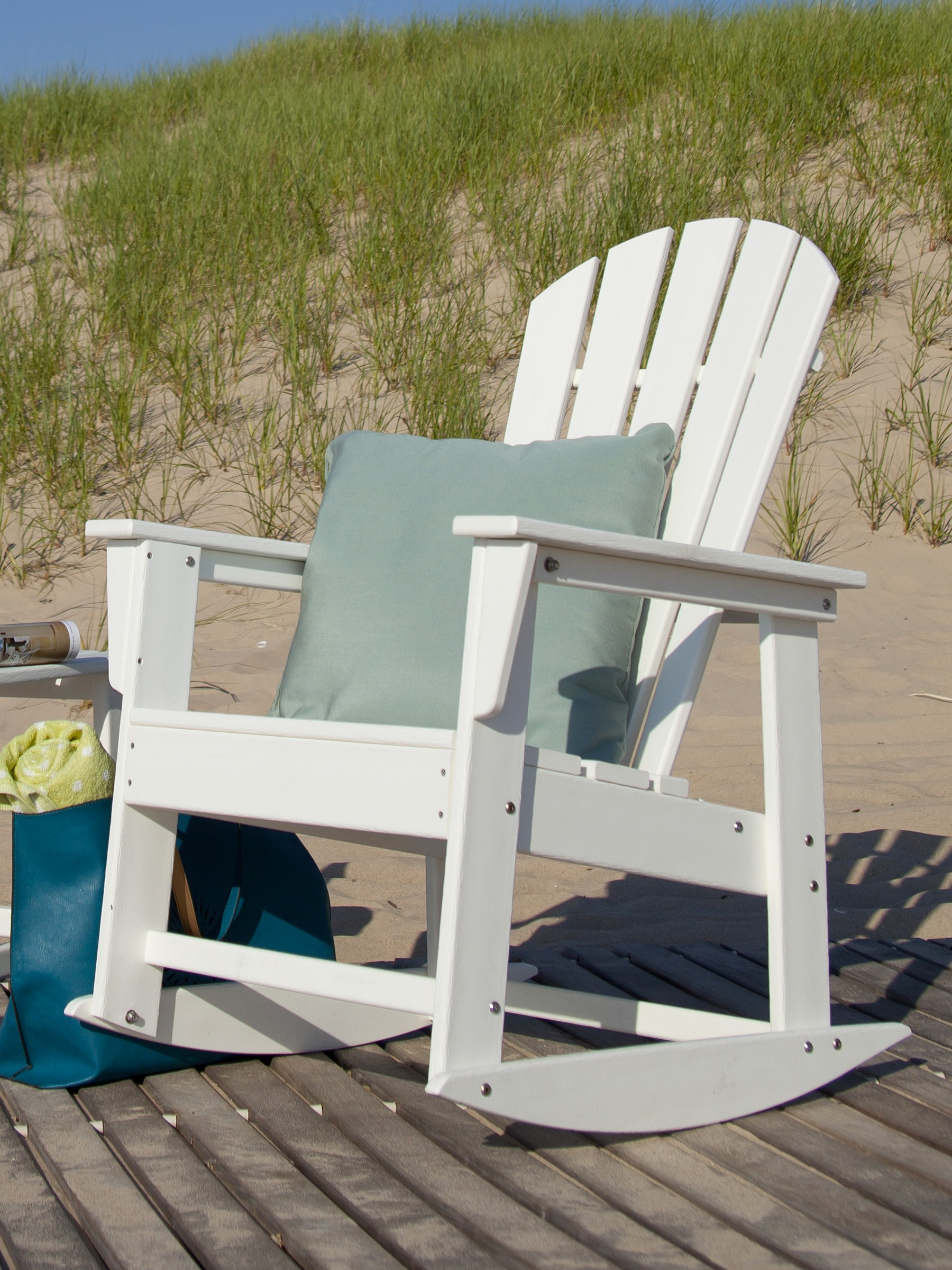 South Beach Adirondack rocking chair Adirondack rocker Polywood outdoor furniture live