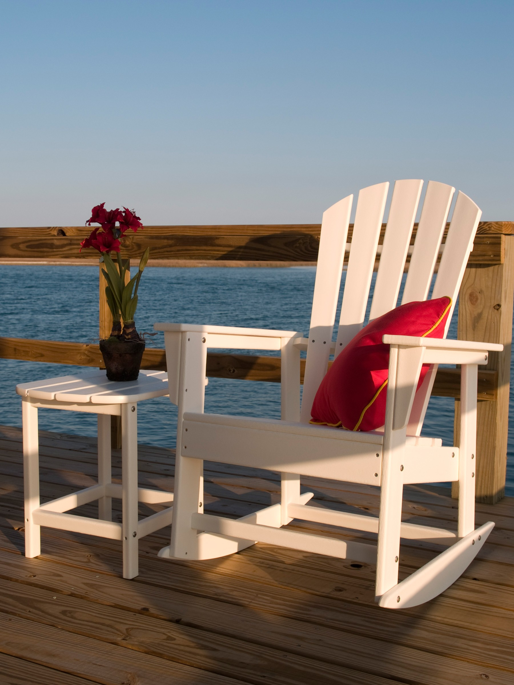 South Beach Adirondack rocking chair Adirondack rocker Polywood outdoor furniture dock chair