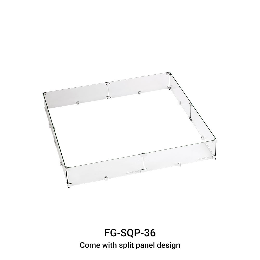 Square Wind Guard for Fire Table