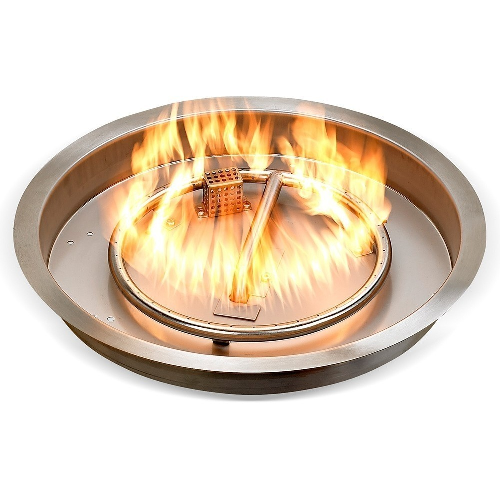 """25"""" Round Stainless Steel Drop-in Fire Pit Pan Kit"""